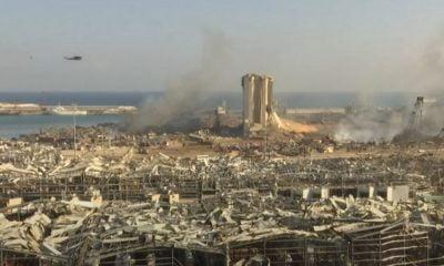 Βηρυτός: Συγκλονιστικό βίντεο από drone πάνω από τα συντρίμμια