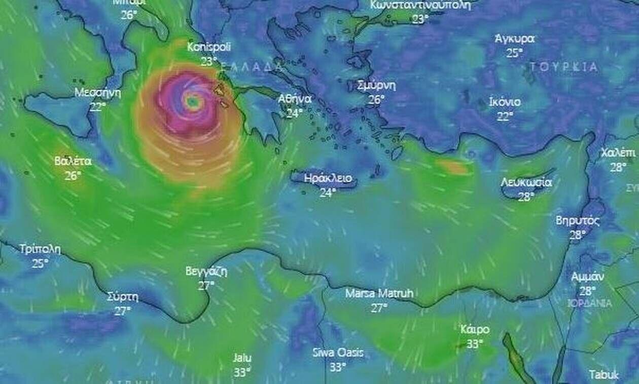 Κακοκαιρία Ιανός: Πού βρίσκεται ο κυκλώνας - Προβλήματα σε Κεφαλονιά, Ζάκυνθο, ΙθάκηVV