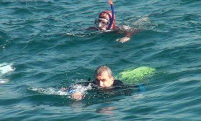 Ο Λουκάς Φουρλάς κολύμπησε και φέτος για τους Μικρούς Ήρωες